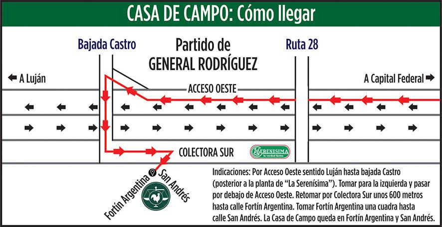 Casa de campo - CAM - mapa